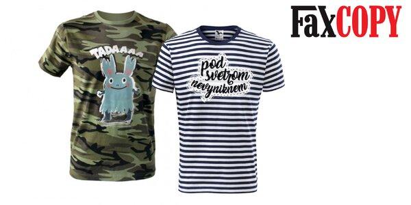 Originálne vzorované tričko s potlačou od FaxCOPY