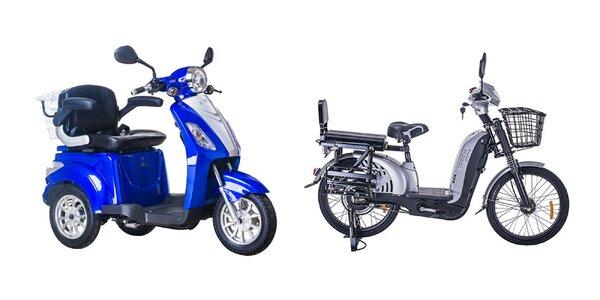 Elektrická trojkolka či bicykel