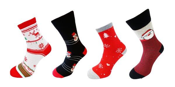 Veselé vianočné ponožky Crazy Socks