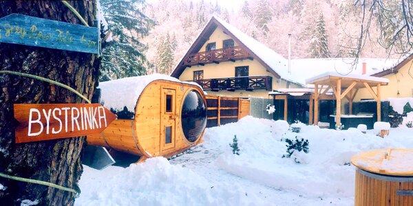 Wellness pobyt s lyžovačkou v Penzióne Bystrinka s horským wellness pre celú rodinu