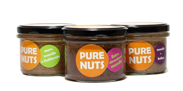 Arašídové i mandľové nátierky PureNuts