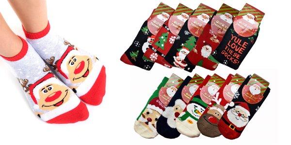 Vianočné termo ponožky