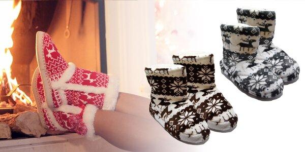 Dámske členkové papuče s nórskym vzorom