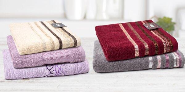 Kolekcia bavlnených froté osušiek a uterákov