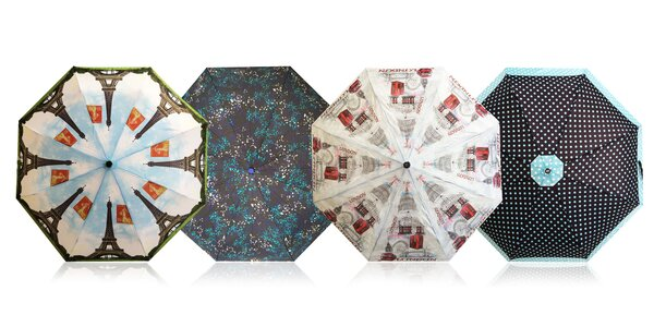 Originálne automatické dáždniky RealSTar v rôznych farbách a vzoroch