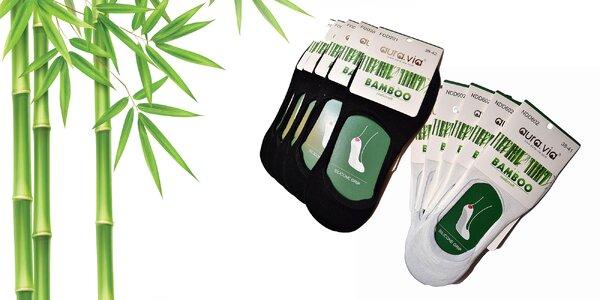 Antibakteriálne bambusové dámske ponožky