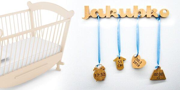 Darček pre novorodencov s pôrodnými údajmi
