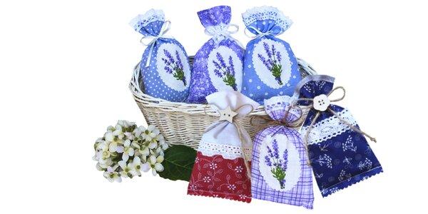 Handmade levanduľové srdiečka a vrecká plnené levanduľou