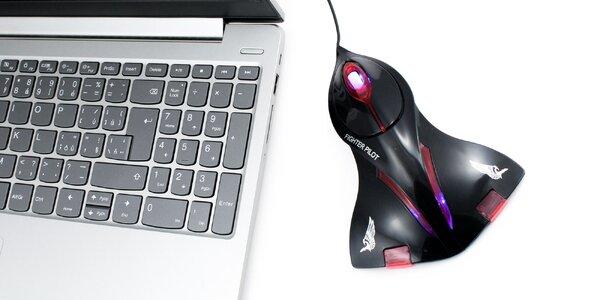 "Originálna PC myš ""čierna stíhačka"""