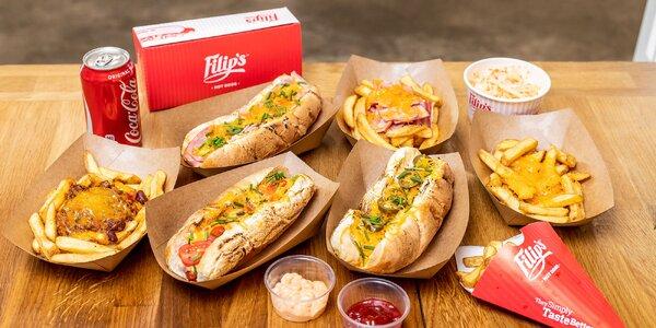 6 druhov hot dogov a belgické hranolčeky vo Filip's Hot dogs