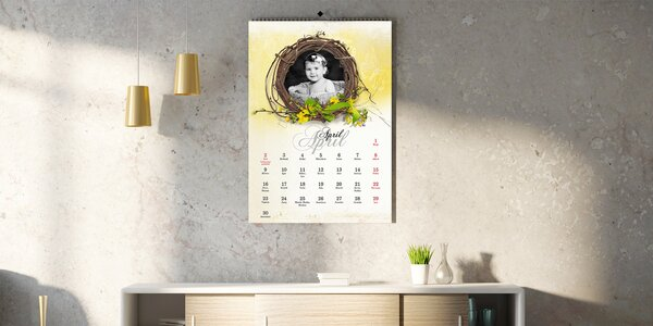 Nástenný fotokalendár vo formáte A4 a A3