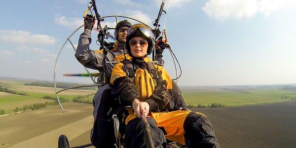 Tandemový let na motorovom padáku ponad Zobor