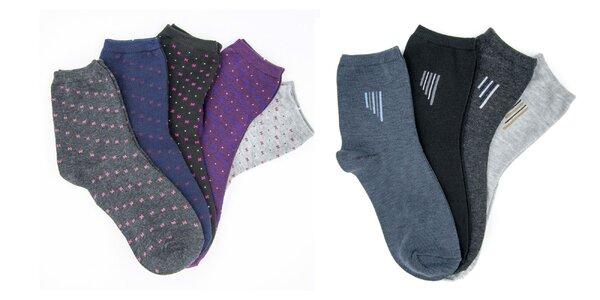 Dámske a pánske teplé ponožky Texbase