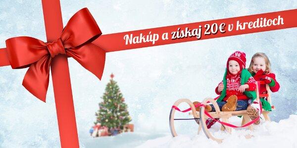 Získaj až 20 € príspevok na darčeky