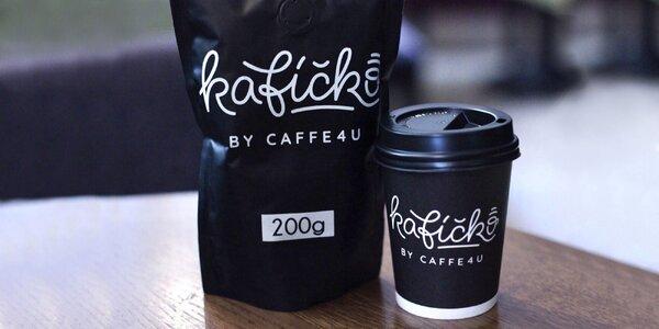 Balené zrnkové kávy Kafíčko by CAFFE4U
