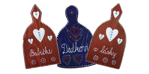 Handmade drevené lopáriky s krásnymi motívmi!