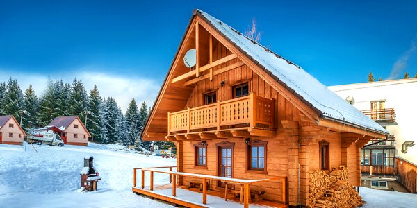 Štýlové zruby v Nízkych Tatrách cez zimu až pre 8 osôb!