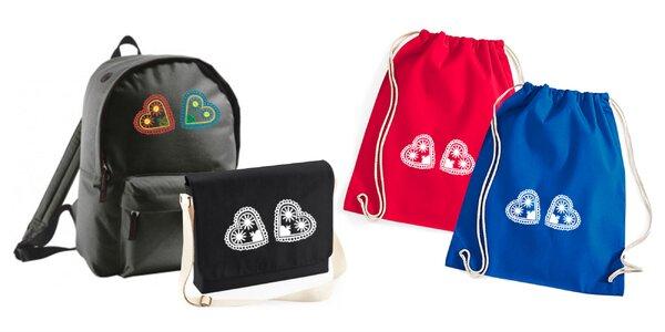 Pekný vak, ruksak či taška s ľudovou výšivkou