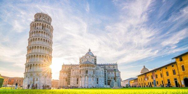 Florencia, Pisa a Napoleonova Elba s kúpaním v mori