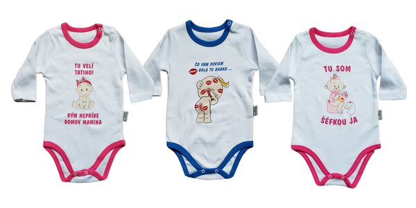 Detské kojenecké body so zábavnými motívmi