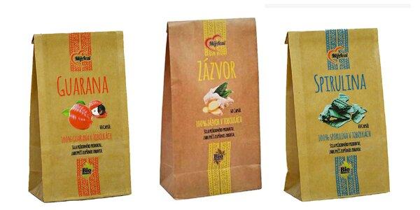 Balík: Pestrec mariánsky, zázvor, kurkuma, spirulina či guarana