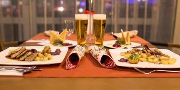Romantická 2-chodová večera v KOŠICE Hotel****