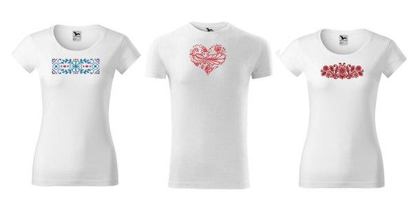 Dámske a pánske vyšívané tričká