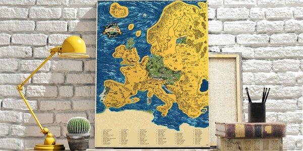 Stieracia mapa Európy Deluxe XL