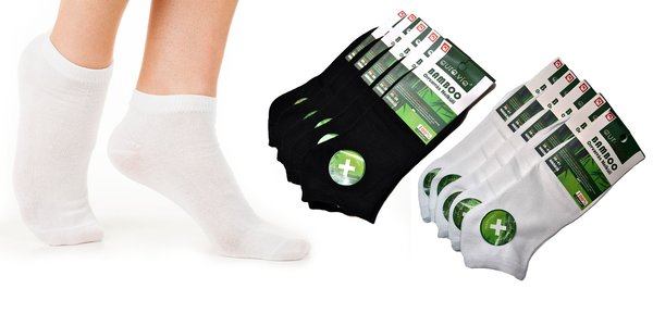 Členkové bambusové ponožky (5 alebo 10 párov)