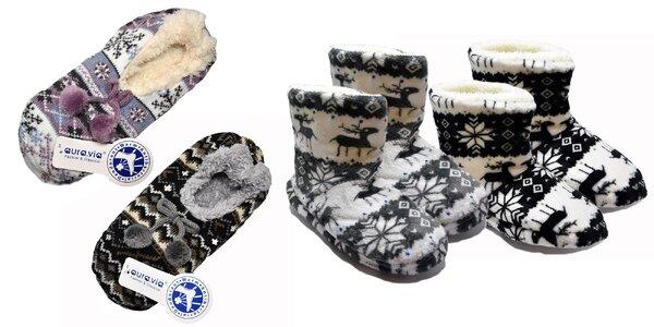 Dámske papuče s nórskym vzorom
