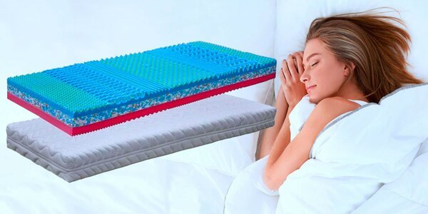 Úžasné obojstrané matrace Valencia s pamäťovou penou a prateľným poťahom