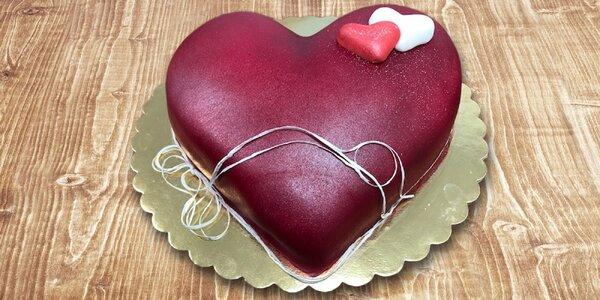 Torty v tvare srdca alebo zákusky na donášku