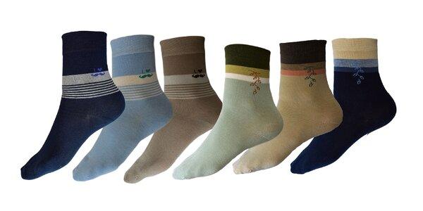 Dámske bavlnené ponožky: 5 párov v balení