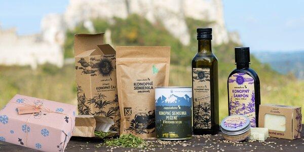 Prírodné konopné produkty zo slovenských polí