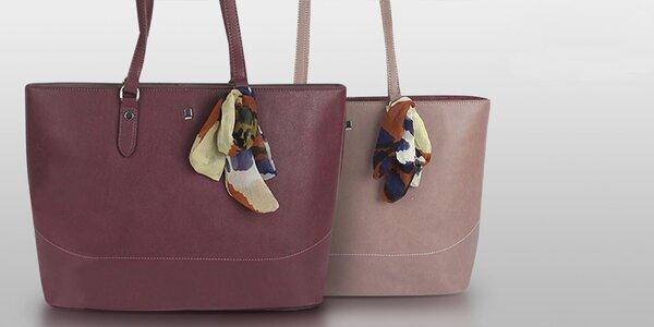 Elegantné dámske kabelky David Jones: čierna, šedá, modrá, ružová aj vínová
