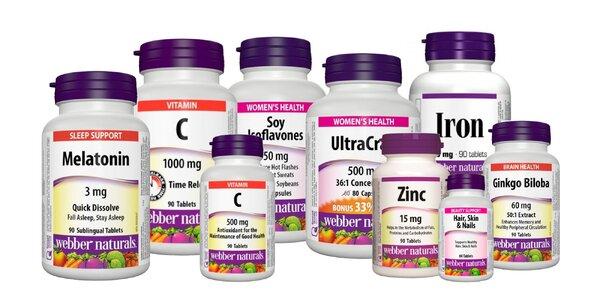 Tablety z prírodných výťažkov od Webber Naturals