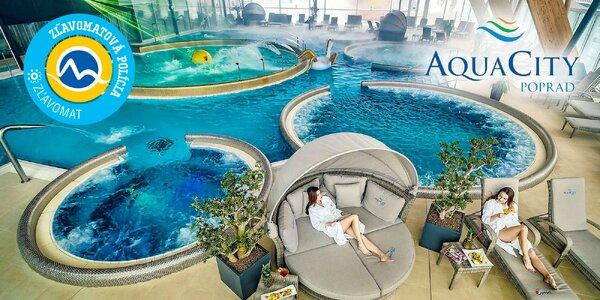 Celodenné vstupy do AquaCity Poprad