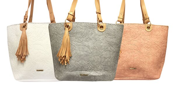 Priestranné dámske kabelky Tessra s príveskom f373eb20d97