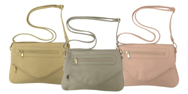 Dámske crossbody kabelky: 3 farebné varianty