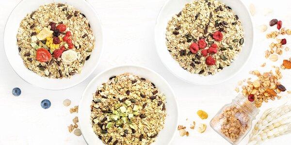 500 g čoko müsli s ovocím sušeným mrazom: 12 druhov
