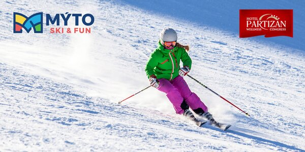 Skipasy do MÝTO SKI & FUN CENTRUM a vstupy do Nature Wellness Center hotela Partizán****