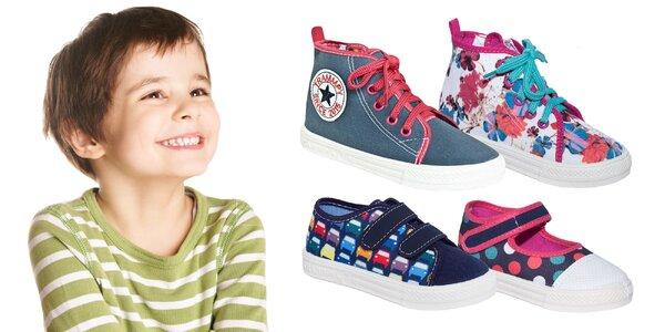 Detská obuv - papučky, tenisky či gumáky