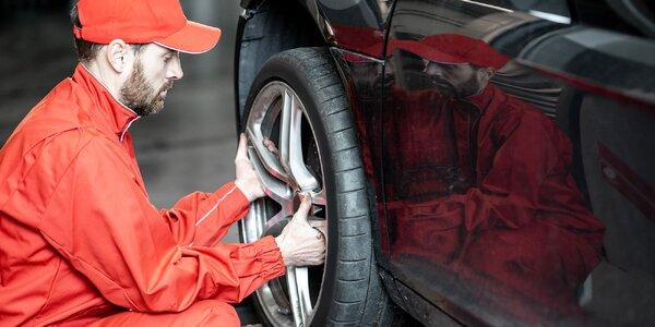 Kompletné prezutie alebo výmena kolies aj s vyvážením a kontrolou vozidla