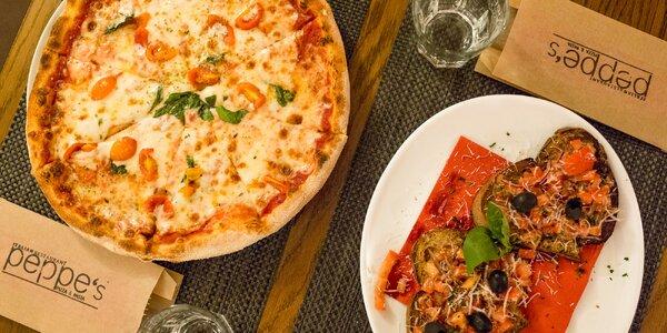 Pizza alebo pizza s chrumkavou bruschettou