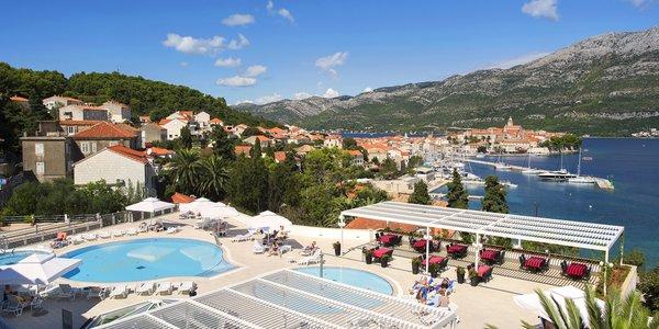 4* hotel na ostrove Korčula - neďaleko od pláže s polpenziou