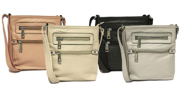 Dámske crossbody kabelky v piatich farbách