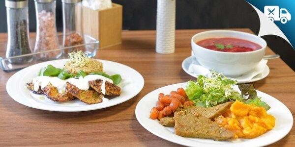 Obedové menu aj s rozvozom - aj vegánske a bezlepkové