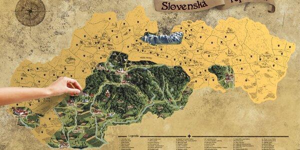 Stieracie mapy: Vysoké Tatry, Slovensko a Európy