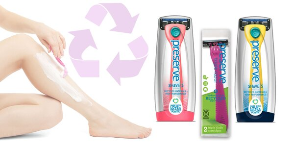 Recyklovateľný holiaci strojček či žiletky