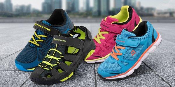 Detské topánky Alpine Pro so zapínaním na suchý zips - 4 typy